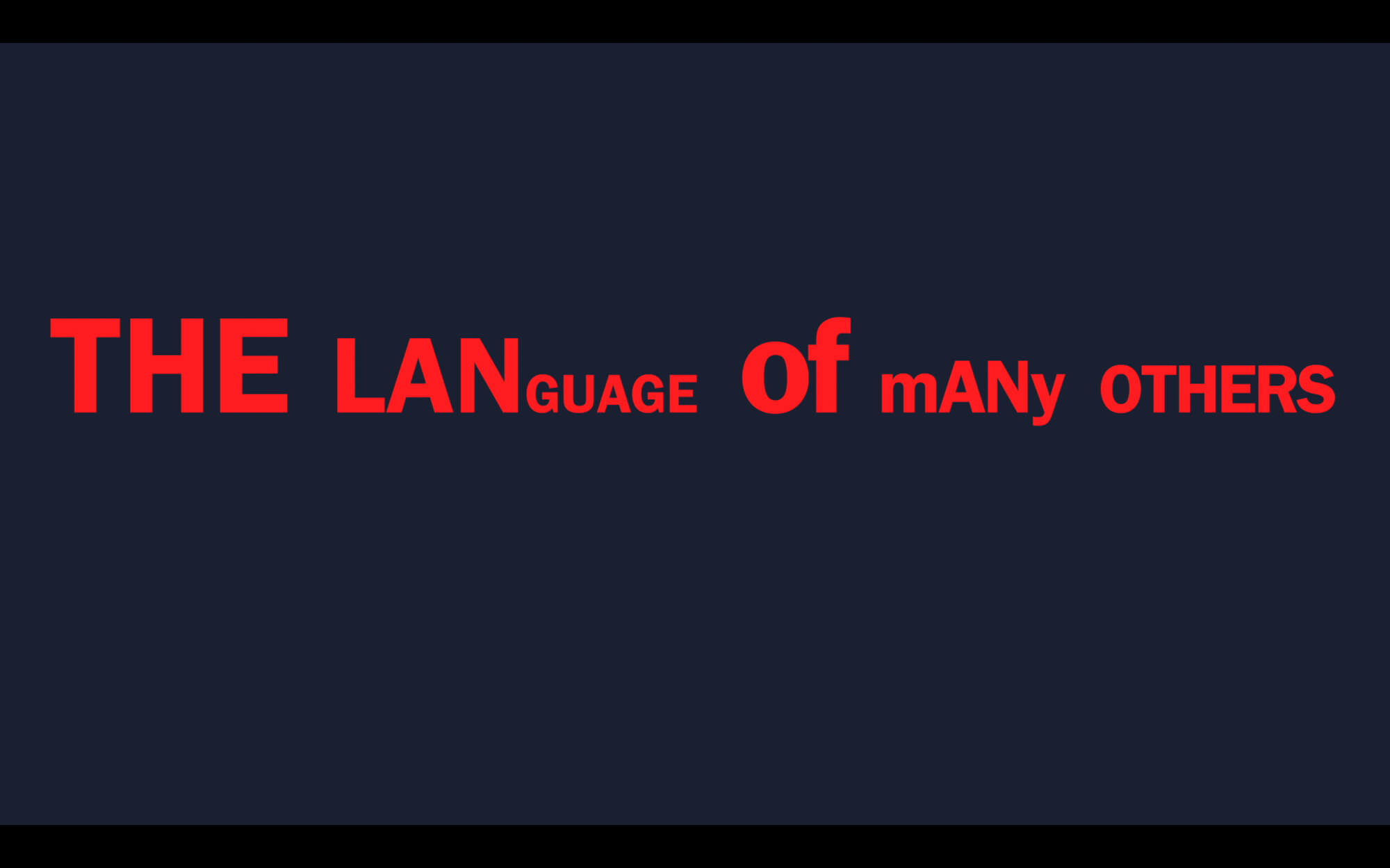Language of many others by Simon Störk