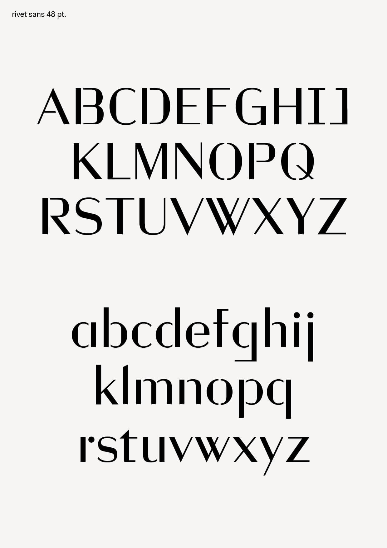 rivet-sans-specimen-alphabet